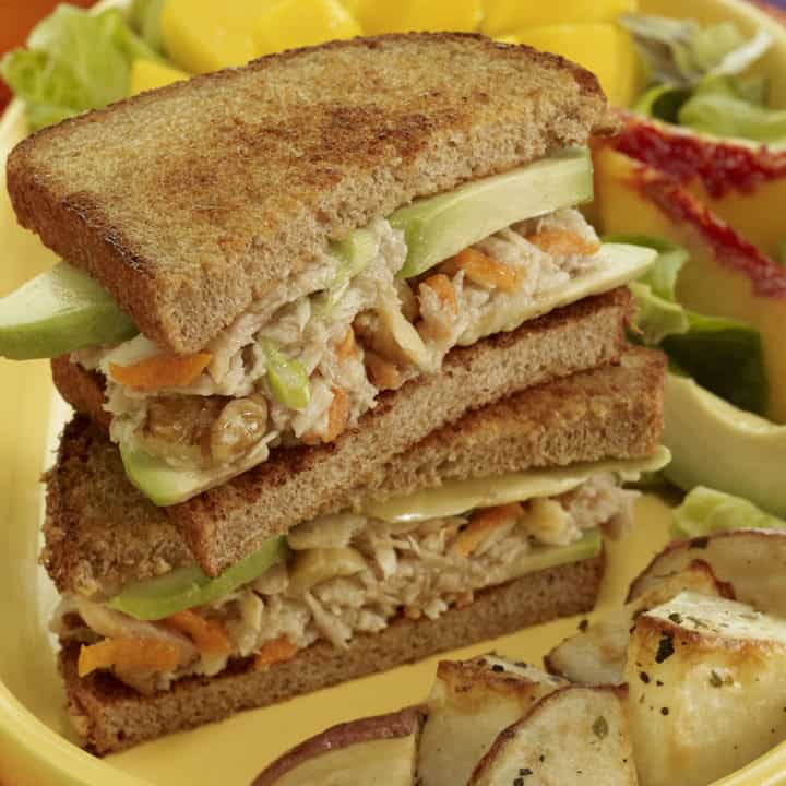 Avocado Tuna Salad Sandwich