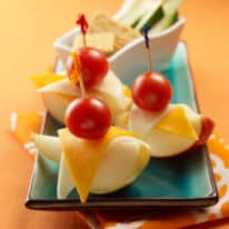 Apple, Pear & Cheese Snack
