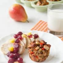 Cranberry Balsamic Chicken & Stuffing Muffins
