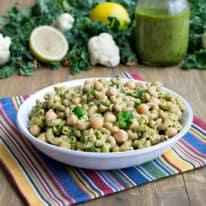 Cauliflower & Kale Pesto Pasta