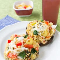 Cheesy Quinoa Stuffed Mushrooms