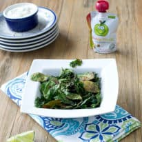Chili-Lime Kale & Spinach Chips