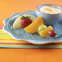 Fun Fruity Skewers with Orange Dip