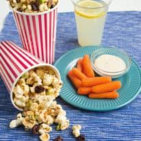 Peanut Butter-Drizzled Popcorn