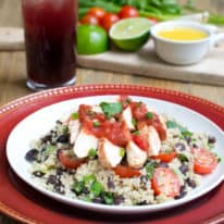 Salsa Chicken with Black Bean Quinoa