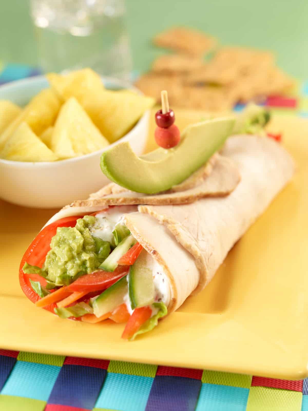 Best Avocado Turkey Wrap