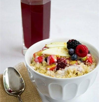 Apple & Berry Quinoa Crisp Bowl