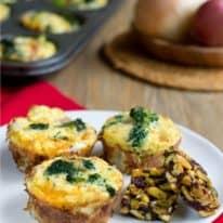Broccoli Cheddar Quiche Muffins