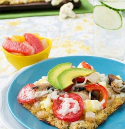 Cauliflower Breakfast Pizza
