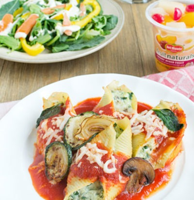 Cheesy Veggie Stuffed Shells