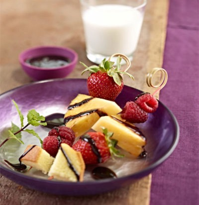 Chocolatey Fruit Skewers