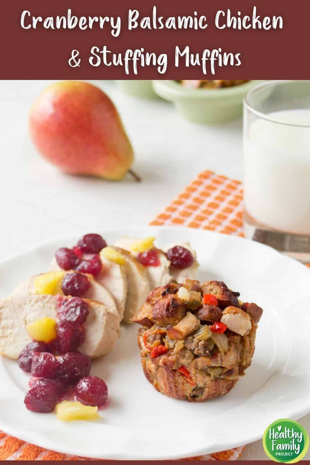 how to make cranberry balsamic chicken with stuffing muffins