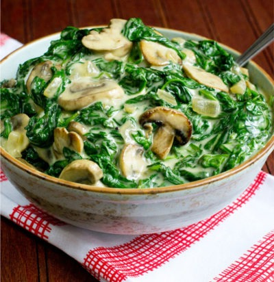 Creamed Spinach & Mushrooms