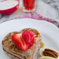 Flourless Berry Banana Pancakes