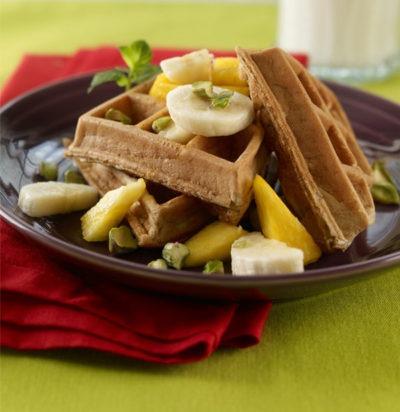 Fruity Multigrain Waffles