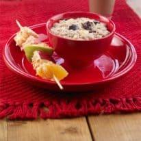 Fruity Vanilla Oatmeal &  Yogurt Kabobs