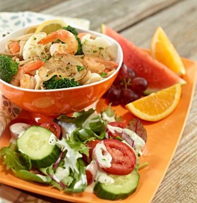 Garden Shrimp Scampi