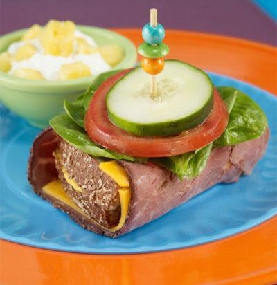 Inside Out Roast Beef Sandwich