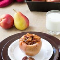 Pear-Stuffed Baked Apples