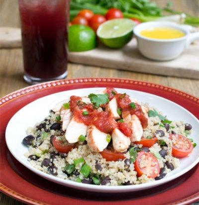 Salsa Chicken with Black Bean Quinoa
