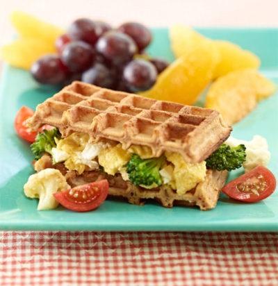 Scrambled Waffle Sandwich