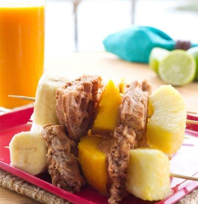Sunny Breakfast Fruit Skewers