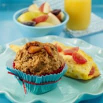 Sunshine Peach Muffins