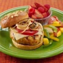 Turkey Burgers & Rainbow Salad