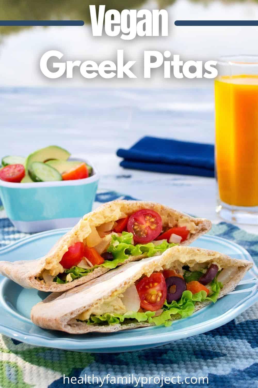 vegan greek pita pinterest image