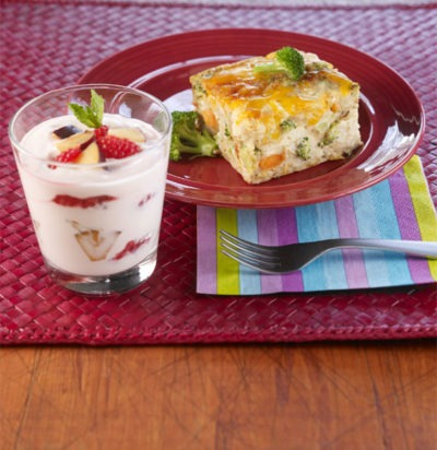 Vegetable Frittata & Berry Parfait