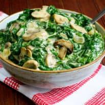 Creamed Spinach & Mushrooms