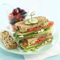 Tasty Hummus Sandwich