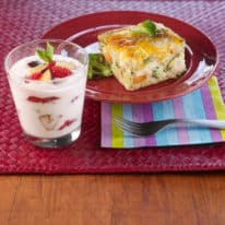 Vegetable Frittata & Berry Parfait