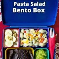 southwestern pasta salad bento box pin