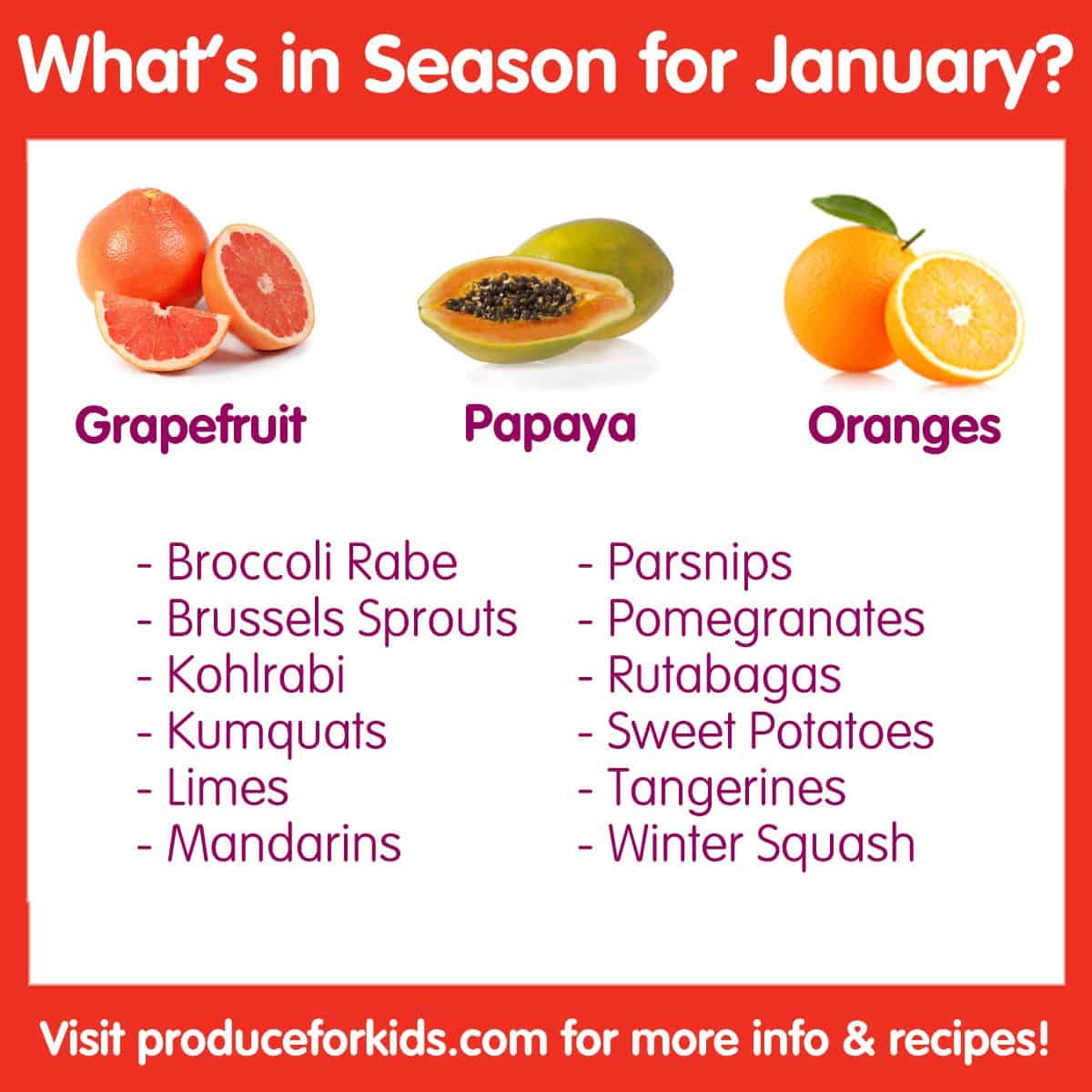 What's in Season for January?