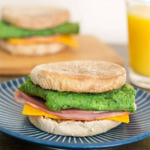 Green Eggs and Ham Breakfast Sandwich