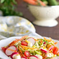 Rainbow Spiralized Cucumber Salad