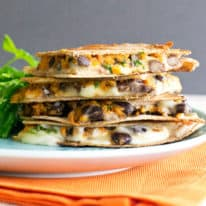 Sweet Potato & Black Bean Quesadilla