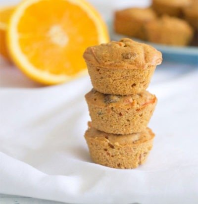 Orange Carrot Raisin Mini Muffins