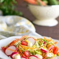 Rainbow Spiralized Cucumber Salad