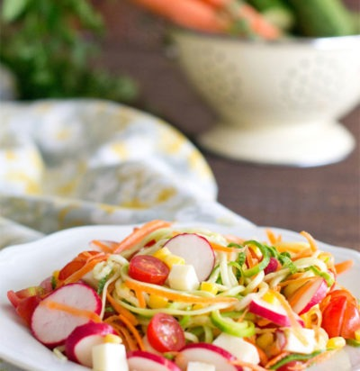 Rainbow Zoodles Salad