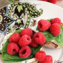 Raspberry & Basil English Muffin