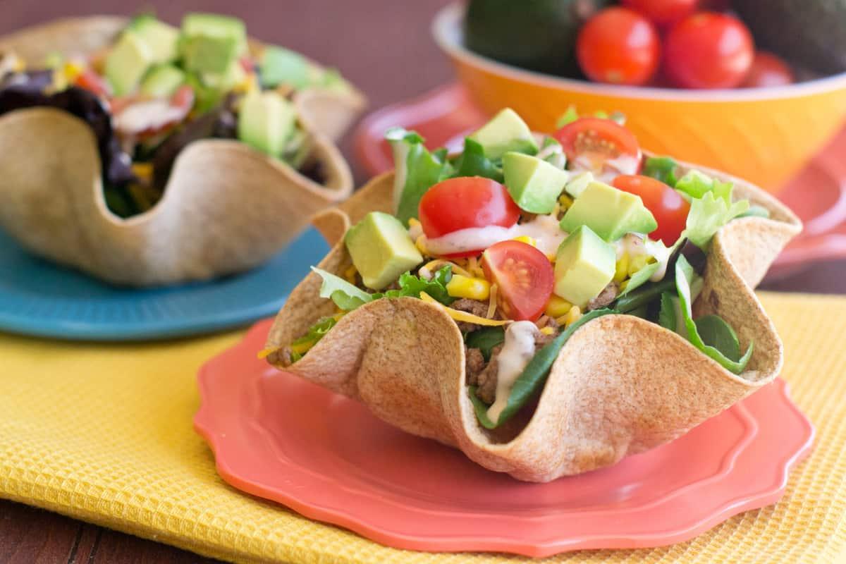 Tex-Mex Taco Salad Bowls Feature Image