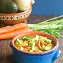 One-Pot Light Chicken Tortilla Soup