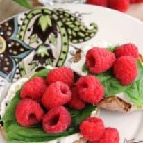 Raspberry & Basil English Muffin