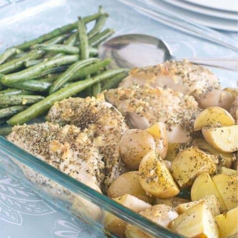 Easy One-Dish Chicken & Veggie Bake