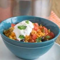 One-Pot Vegetarian Enchilada Bowls