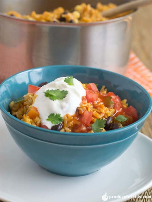 One-Pot Vegetarian Enchilada Bowls