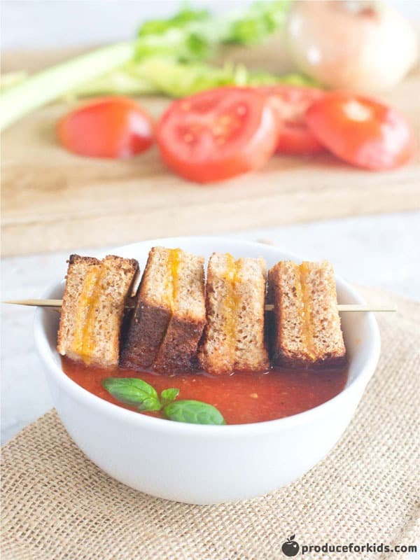 Tomato Soup & Baked Mini Grilled Cheese