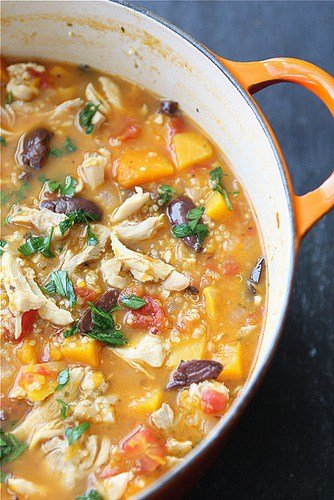 HEARTY CHICKEN STEW RECIPE WITH BUTTERNUT SQUASH & QUINOA